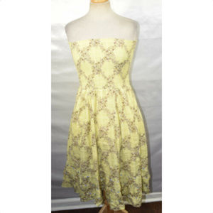 FREE PEOPLE Womens Strapless Floral Dress, Size 10